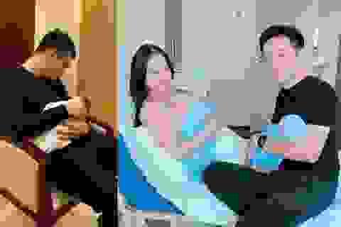 Khắc Việt, Dương Khắc Linh hạnh phúc khoe cặp song sinh vừa chào đời