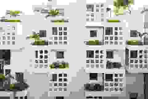 """Chiêu """"độc"""" lấy sáng khiến nhà 5 tầng ở Sài Gòn ngập nắng gió, đẹp cuốn hút"""