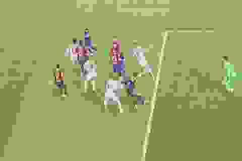 Sergio Ramos nói gì về pha ngã bất thường trước Barcelona?