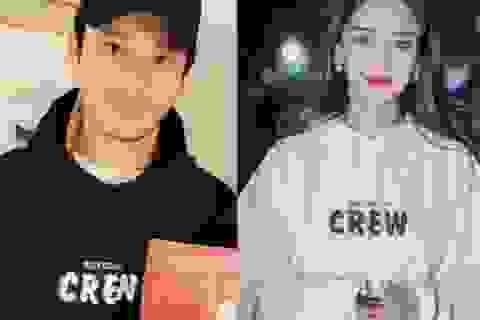 Vợ chồng Angelababy và Huỳnh Hiểu Minh diện đồ đôi