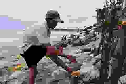 Người dân ven biển hối hả phòng chống bão số 9