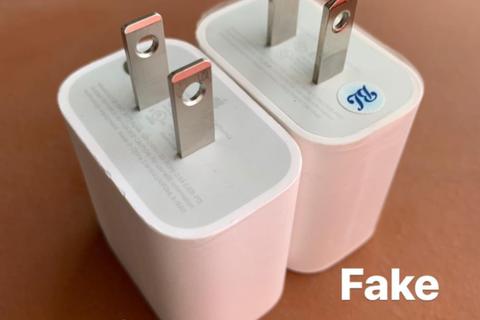 """Cách phân biệt sạc nhanh chính hãng Apple với hàng """"nhái"""""""