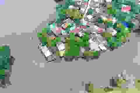 Gần một tuần mưa ngớt, lũ rút nhưng nhiều nơi vẫn ngập lụt