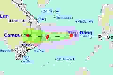 Áp thấp nhiệt đới trên Biển Đông đã mạnh lên thành bão số 12