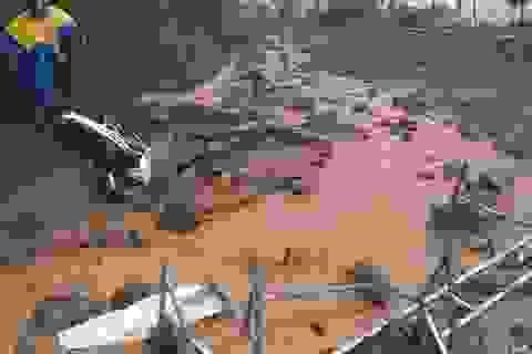 Xác minh thông tin một số người mất tích sau vụ lở núi
