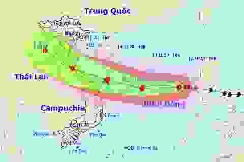 Nhiều kịch bản về hướng di chuyển của cơn bão số 13
