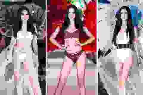 Trần Tiểu Vy, Phương Nga và Thúy An cùng Top 35 trình diễn bikini nóng bỏng