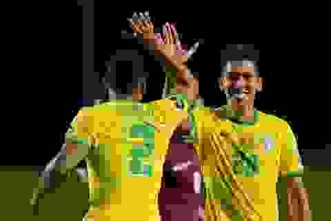 Vắng Neymar, Brazil nhọc nhằn chiến thắng ở vòng loại World Cup