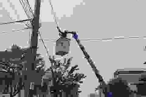 Ngành điện khắc phục các thiệt hại do cơn bão số 13 gây ra