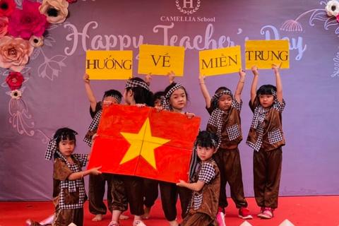 Ấm lòng học sinh mầm non tri ân ngày Nhà giáo Việt Nam 20/11