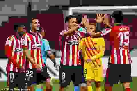 Atletico 1-0 Barcelona: Bàn thắng duy nhất của Carrasco