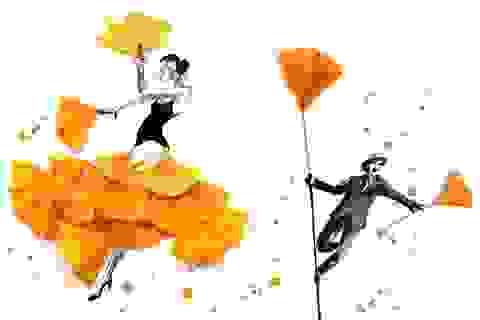 """Lá vàng và màu nước tạo nên những """"tác phẩm mùa thu"""" hút mắt"""