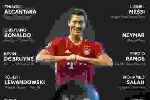 Lewandowski tranh giải cao quý nhất năm với Messi và C.Ronaldo