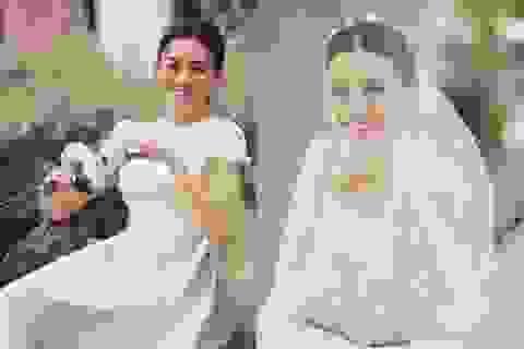 Á hậu Tường San rạng rỡ trong hình ảnh cô dâu