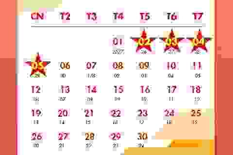 Infographic: Lịch nghỉ Tết Nguyên đán Tân Sửu và Quốc khánh 2/9
