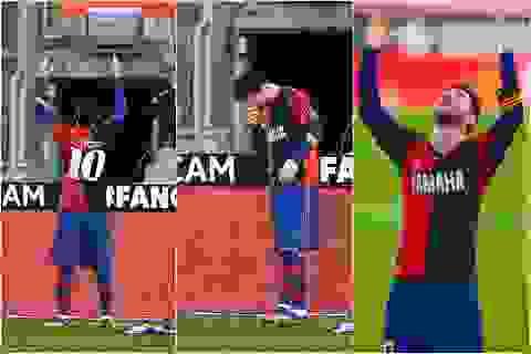 Lionel Messi bị phạt 600 euro vì tri ân huyền thoại Maradona