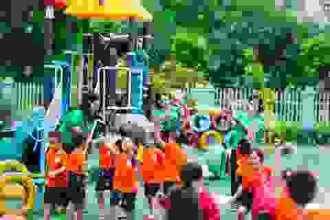 """Ngắm ngôi trường mầm non sở hữu diện tích """"khủng"""" tại Long Biên"""