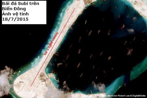 Philippines tố cáo Trung Quốc phá hoại 17 bãi đá thuộc Trường Sa