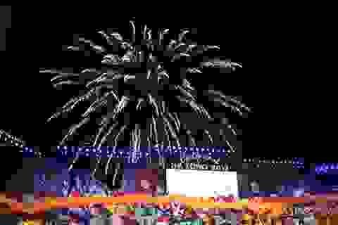 Carnaval Hạ Long lần đầu tiên bắn pháo hoa tầm cao