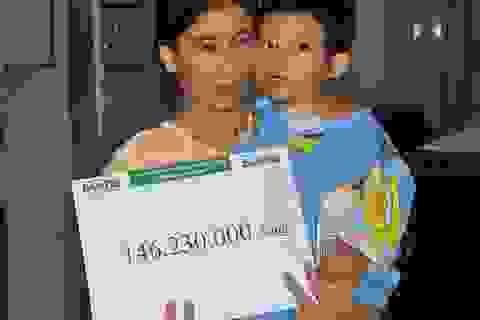 Hơn 146 triệu đến với em bé Thùy Dương