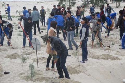 Ra quân trồng cây bảo vệ môi trường