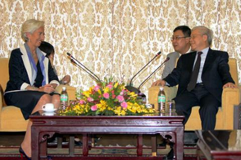 Tổng Bí thư Nguyễn Phú Trọng tiếp Tổng Giám đốc Quỹ Tiền tệ Quốc tế
