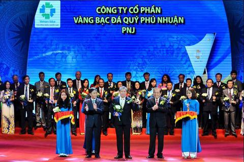 PNJ tiếp tục được vinh danh Thương hiệu Quốc gia năm 2016