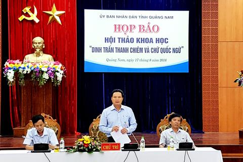 """Quảng Nam đi tìm nguồn gốc """"Dinh trấn Thanh Chiêm"""" và chữ Quốc ngữ"""