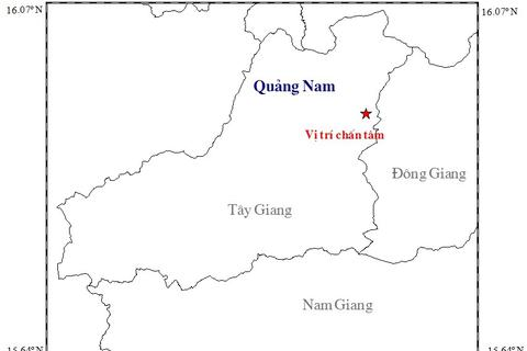 Động đất mạnh 3,4 độ richter ở Quảng Nam