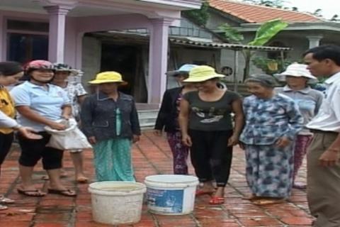 Quảng Trị: Đảm bảo nguồn nước sạch sinh hoạt cho người dân vùng bị ngập lụt