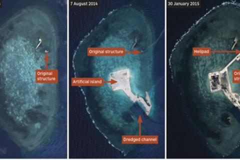 Trung Quốc thách thức ASEAN bằng các hoạt động bồi đắp ở Biển Đông