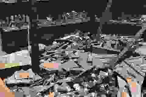 Khánh Hòa: Cháy chợ lúc rạng sáng, 5 ki-ốt bị thiêu rụi