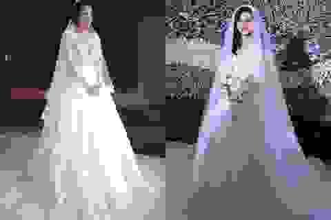 Những chiếc váy cưới đình đám của sao Việt năm 2015