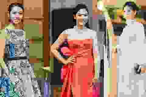 Ngọc Hân, Thúy Vân kiều diễm, Diễm Trang giấu bụng bầu với váy ren