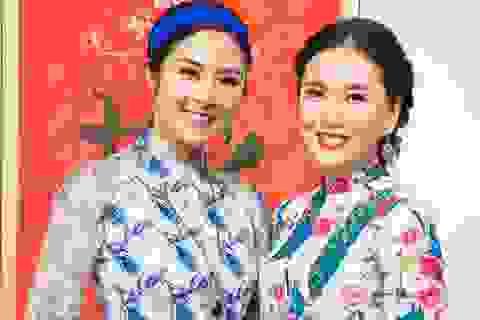 """Hoa hậu Ngọc Hân đọ sắc cùng """"cô gái thời tiết"""" Mai Ngọc"""