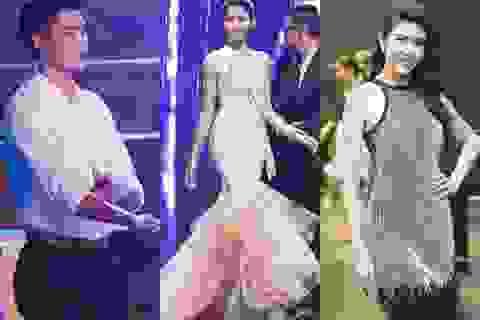 Quang Hùng ủng hộ bạn gái, Thúy Vân đồng hành Hoa khôi Áo dài