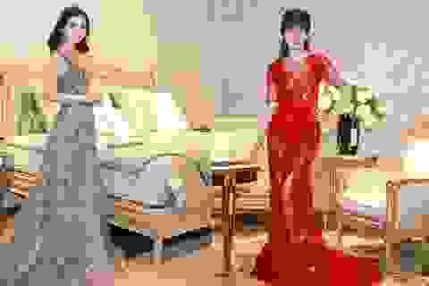 Dàn Hoa hậu thưởng lãm nội thất đẳng cấp trên nền nhạc jazz, opera