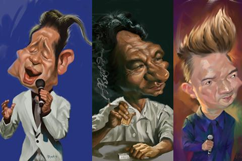 Nghệ sĩ Việt thích thú với tranh hí họa về chính mình