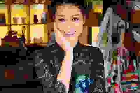 Hoa khôi Trương Tùng Lan khoe vóc dáng với váy ren điệu đà