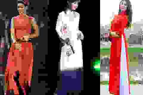 Khi sao quốc tế thể hiện tình yêu với tà áo dài Việt