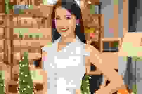 Lệ Hằng được bố mẹ tiếp sức từ Mỹ chuẩn bị cho Miss Universe