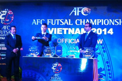 Bốc thăm VCK futsal châu Á 2014: Việt Nam rơi vào bảng nhẹ