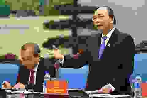 Thủ tướng Nguyễn Xuân Phúc phân việc cho các Phó Thủ tướng, Bộ trưởng
