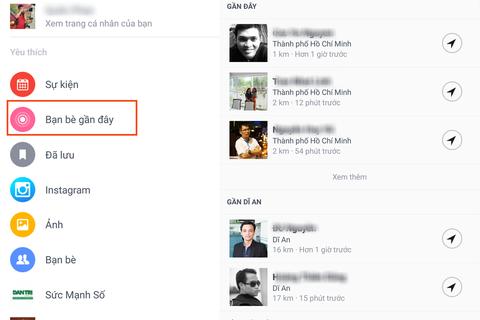 Facebook kích hoạt chức năng tìm kiếm bạn bè xung quanh chúng ta