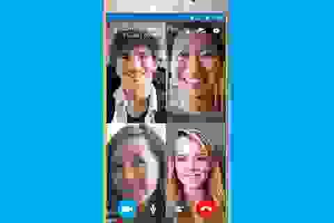 Skype cho phép gọi điện video nhóm miễn phí trên di động