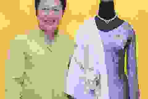 NTK Sỹ Hoàng thiết kế áo dài đặc biệt tặng phu nhân Tổng thống Obama