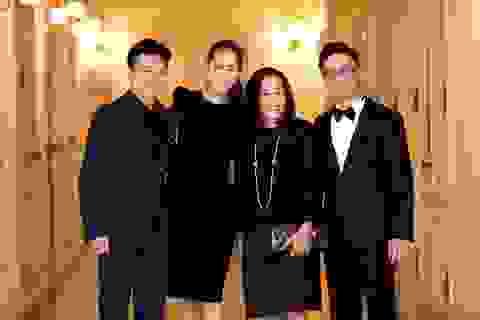 """Dương Thùy Linh cùng chồng đi cổ vũ """"thần đồng"""" Piano Nguyễn Việt Trung"""