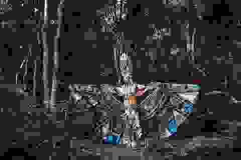 Ngọc Tình oai dũng trong trang phục dân tộc dự thi Nam vương