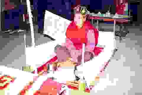 Tái hiện lễ cấp sắc của người Sán Dìu tại ngày hội vùng cao ở Hà Nội