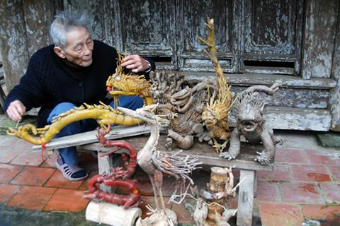 Nghệ nhân chế tác rồng tre nổi tiếng bị trộm cuỗm mất 100 triệu tiền dưỡng già